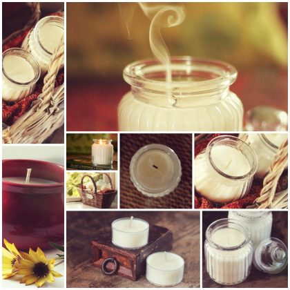 soy candle photography