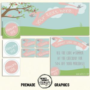 cute stuff premade facebook set